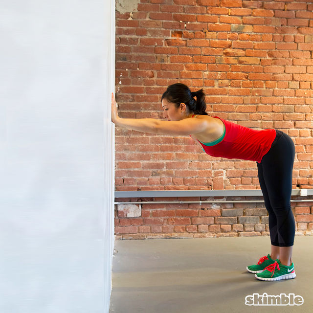 How to do: 90 Lat Stretch - Step 1