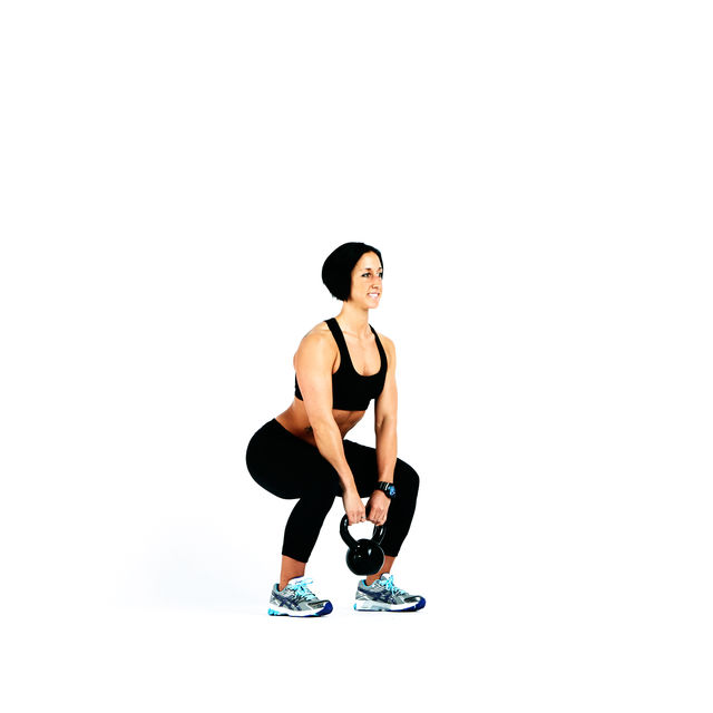 Kettlebell Squat To Upright Row Exercise How To