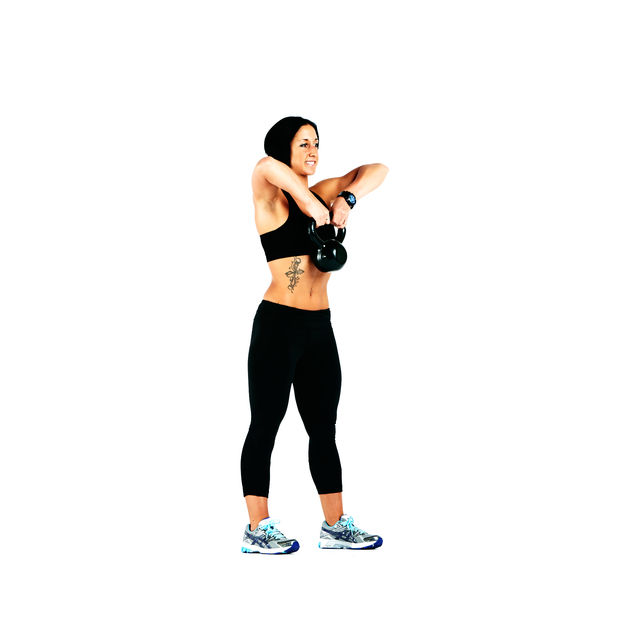 Kettlebell Squat to Upright Row - Exercise How-to ...
