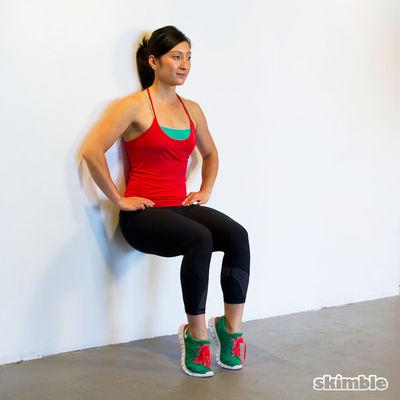 Wall Sits with Heel Ups