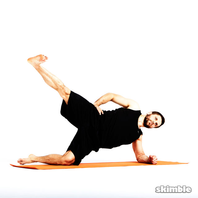 Left Side Plank With Leg Abduction Exercise How To