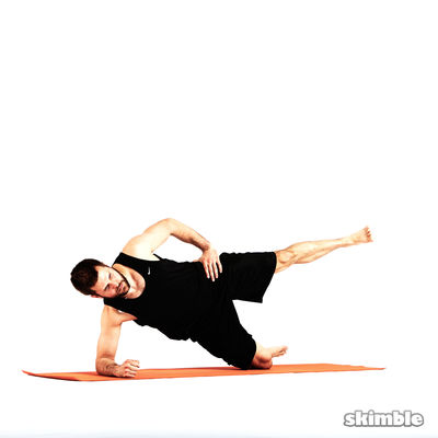 Right Side Plank with Leg Abduction