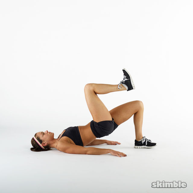 Bent Single Leg Floor Bridges Exercise How To Workout