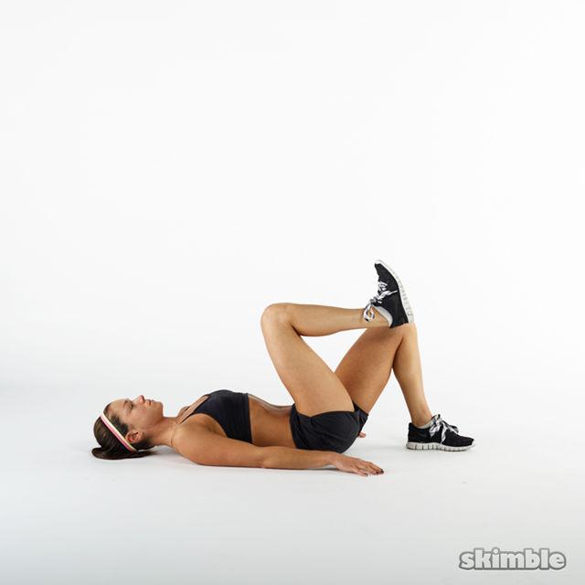 How to do: Bent Single Leg Floor Bridges - Step 4