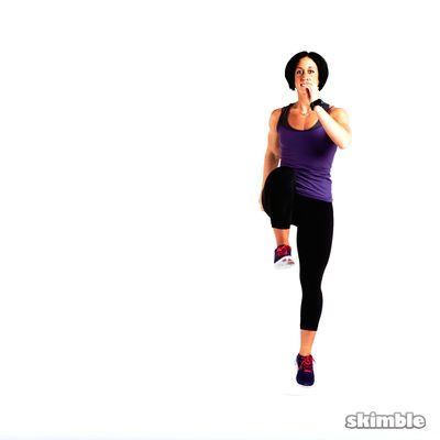 Reverse Lunge to Right Side Lunge