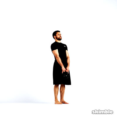 Right Lateral Lunge with Kettlebell