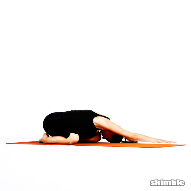 Child's Pose with Side Reaches - Exercise How-to - Workout Trainer ...