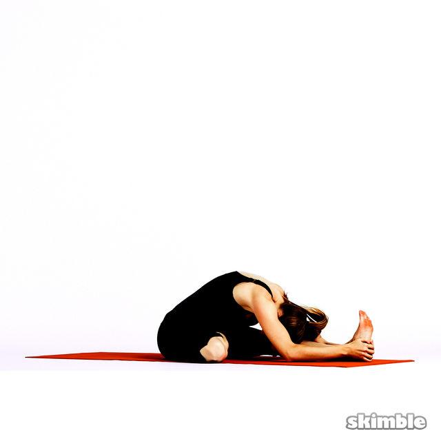 How to do: Half Lotus Forward Fold - Step 5