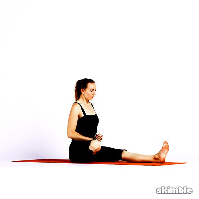 How to do: Half Lotus Forward Fold - Step 4