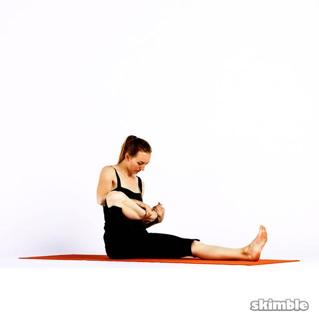 How to do: Half Lotus Forward Fold - Step 3