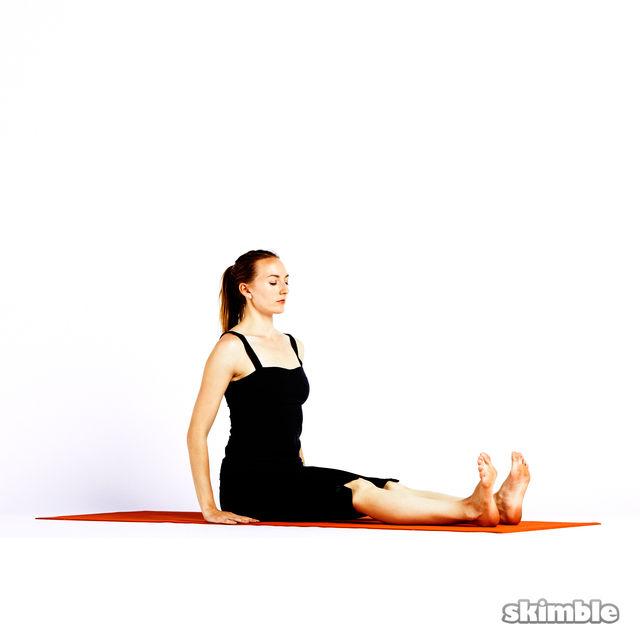 How to do: Half Lotus Forward Fold - Step 1
