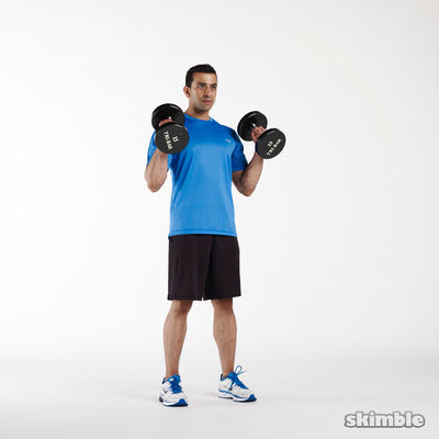 Hammer Curls With Shoulder Press