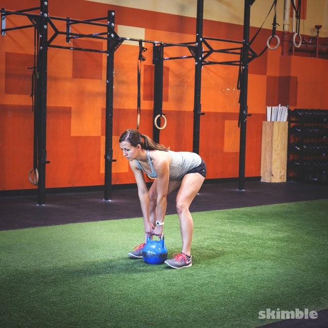 Exercise Kettlebell Deadlift: Member Workout By Cheryl T