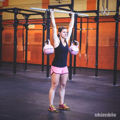 Kettlebell Stability Shoulder Press