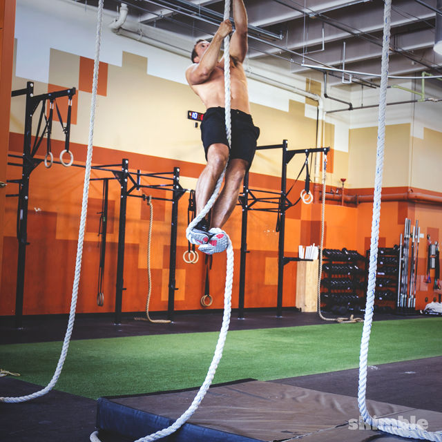 Rope Climb Exercise How To Workout Trainer By Skimble