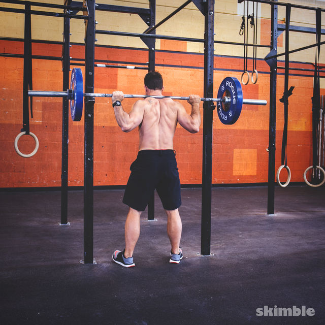 How to do: Barbell Back Loaded Squats - Step 4