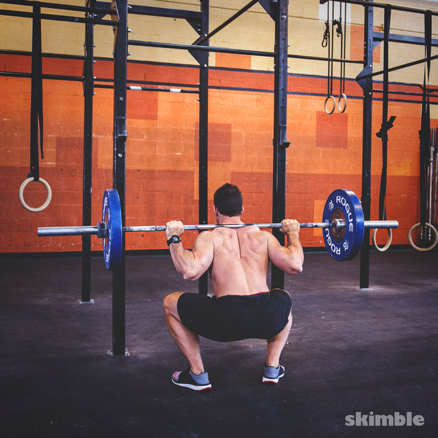 How to do: Barbell Back Loaded Squats - Step 3