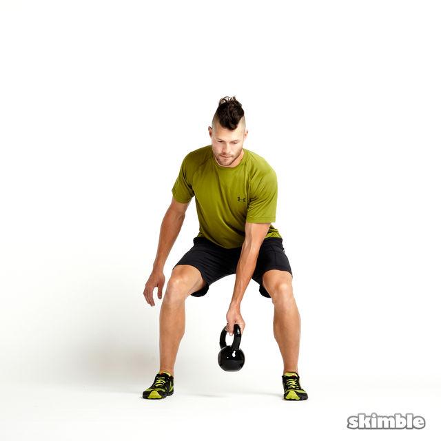 Exercise Kettlebell Figure Eight: Kettlebell Figure Eights