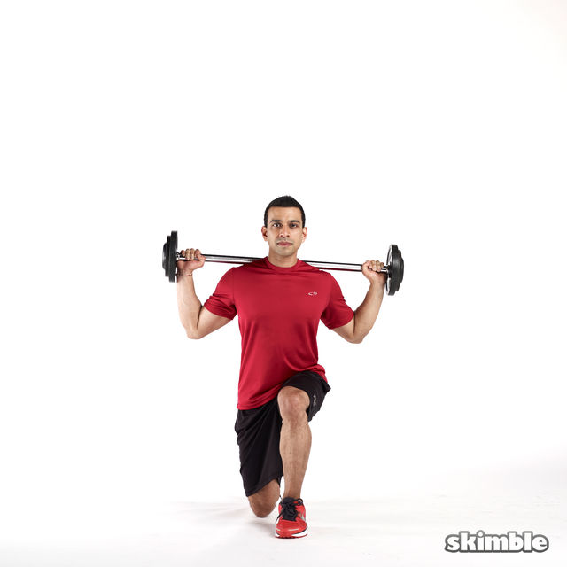 How to do: Barbell Lunges - Step 6