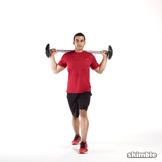 How to do: Barbell Lunges - Step 5