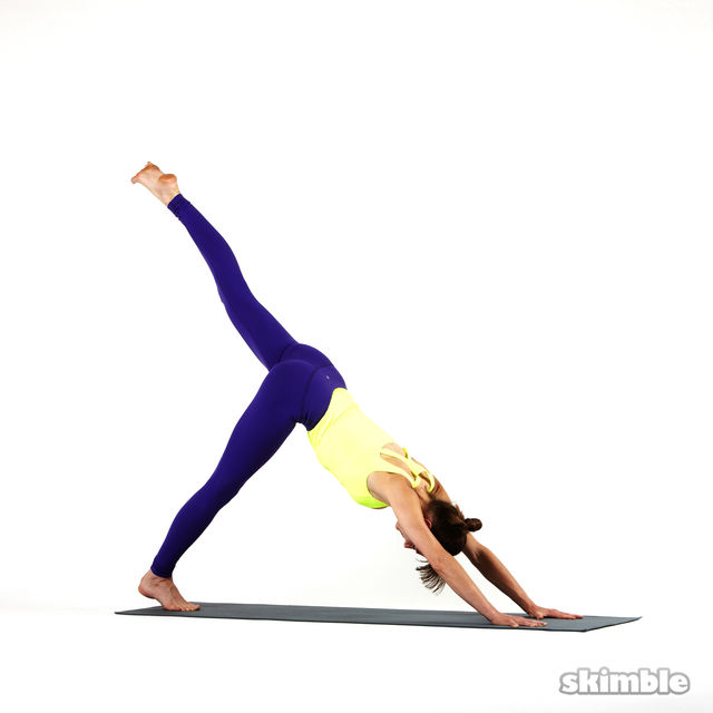 Downward-Facing Dog with Left Leg Raise - Exercise How-to ...