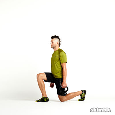Right Suitcase Split Squats with Kettlebell
