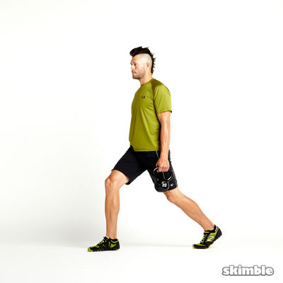 Alternating Suitcase Split Squats with Kettlebell