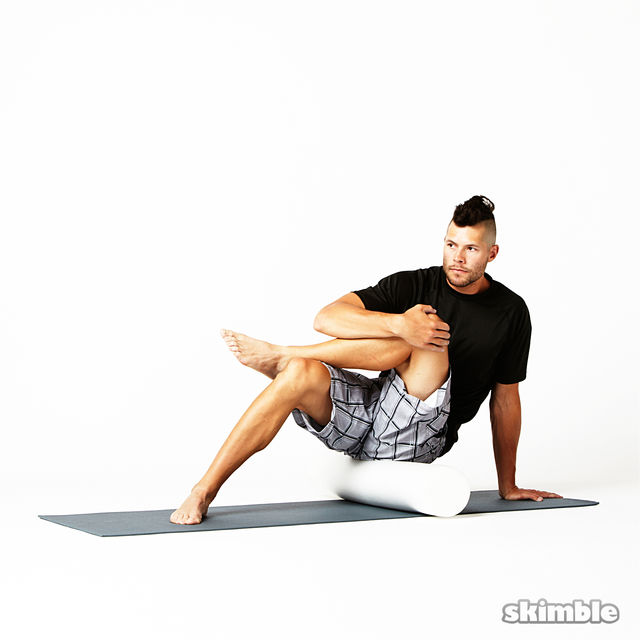 How to do: Advanced Left Glute Rolls - Step 1