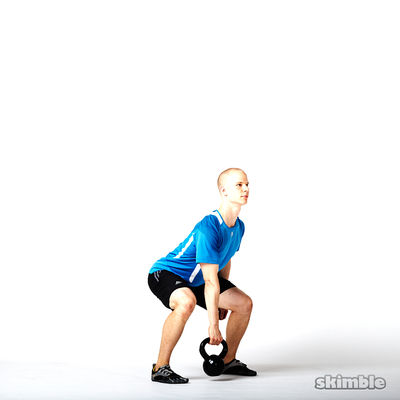 Right Kettlebell Squat Clean Thrusters