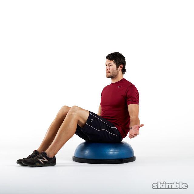 Bosu Ball Ab Chair: Seated BOSU Balance