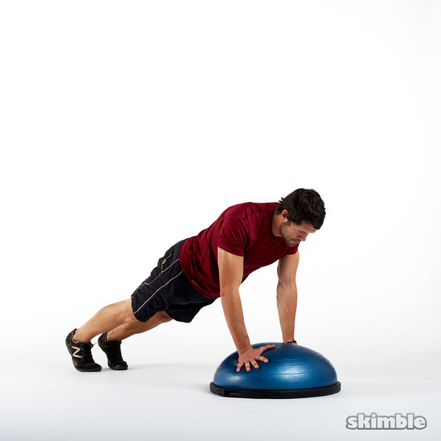 Plank Using Fit Ball And Bosu Ball: Workout Trainer By Skimble