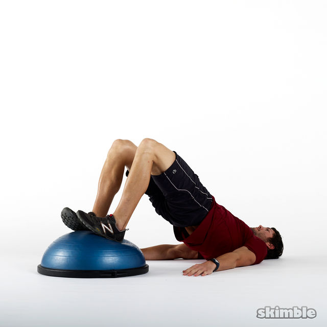 Stability Ball Glute Bridge: Workout Trainer By