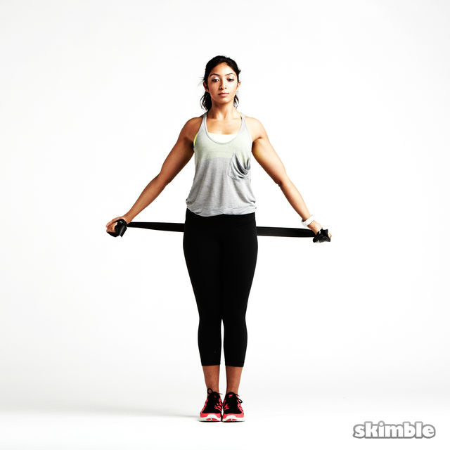 Shoulder Opener With Band Exercise How To Workout