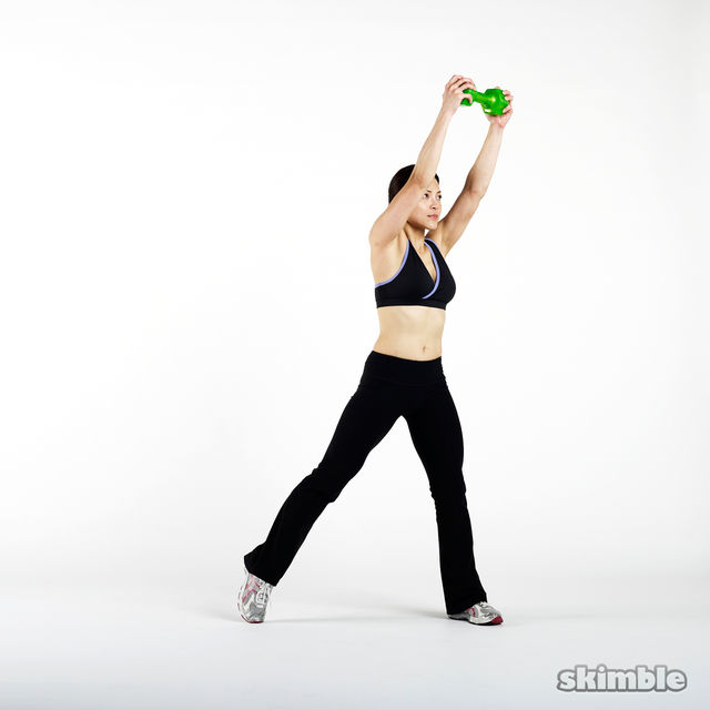 Left Dumbbell Woodchops - Exercise How-to - Workout ...
