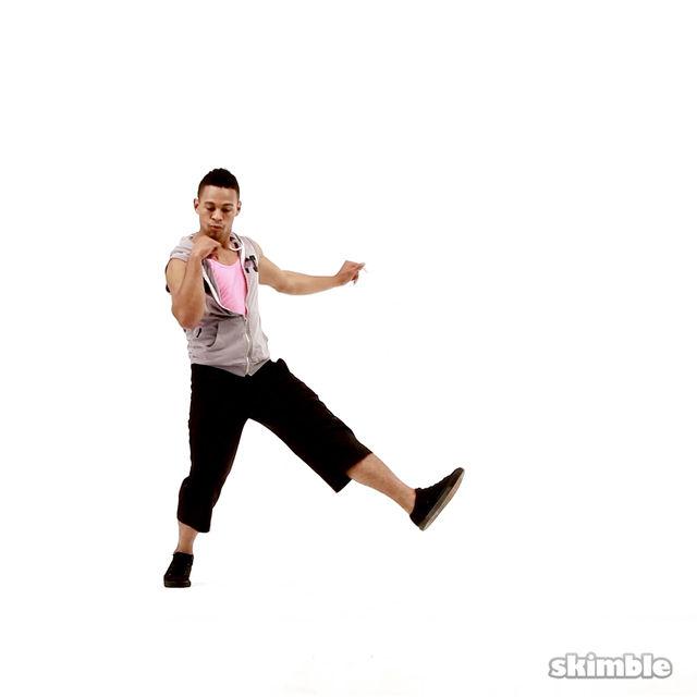 How to do: Cross Kicks - Step 3