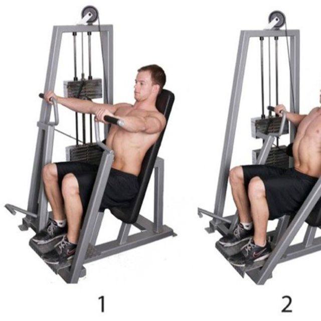 Horizontal Chest Press - Exercise How-to - Workout Trainer ...