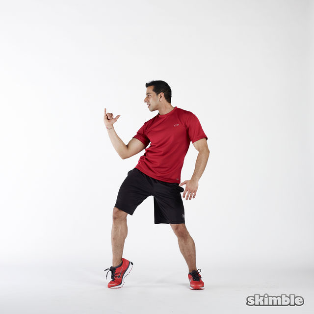 How to do: Elbow to Hip Side Thrusts - Step 6