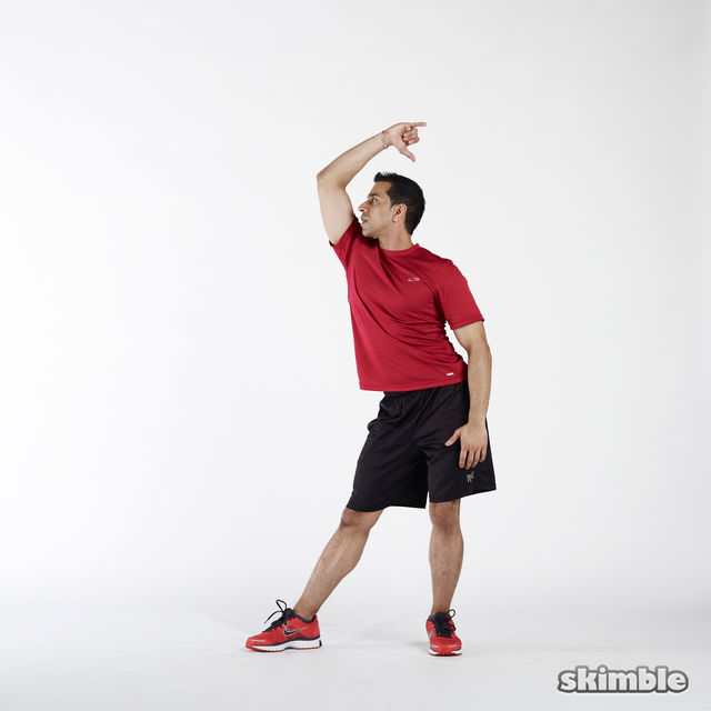How to do: Elbow to Hip Side Thrusts - Step 4