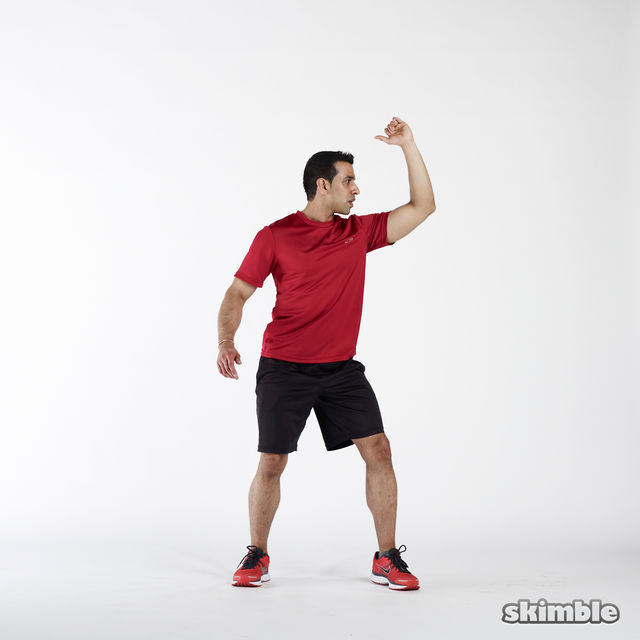 How to do: Elbow to Hip Side Thrusts - Step 1