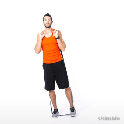 Left Leg Lateral Raise with Band