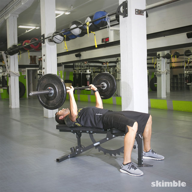 How to do: Barbell Bench Press - Step 2