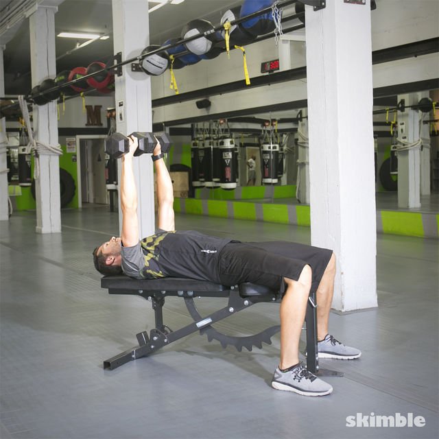 How to do: Dumbbell Bench Press - Step 3