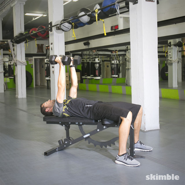 How to do: Bench Dumbbell Fly - Step 1