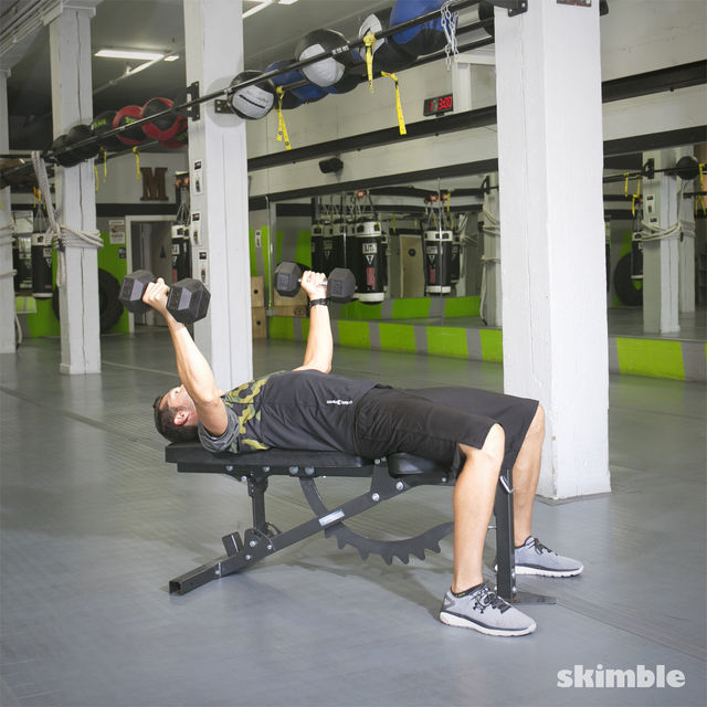 How to do: Bench Dumbbell Fly - Step 2