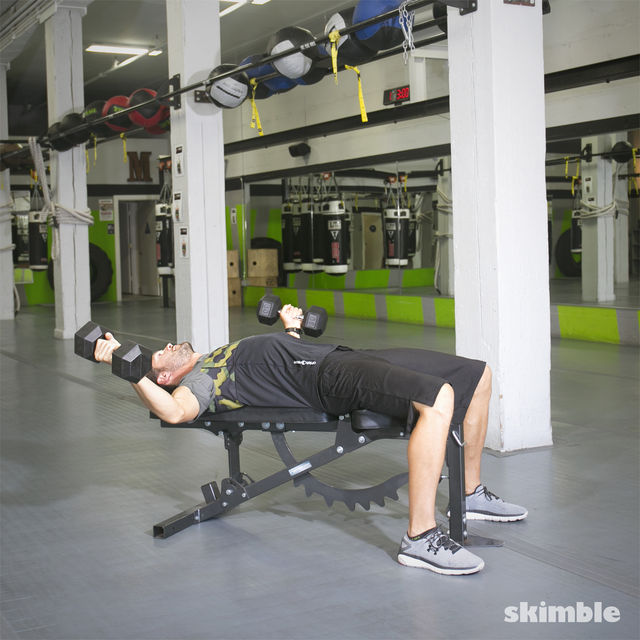 How to do: Bench Dumbbell Fly - Step 3