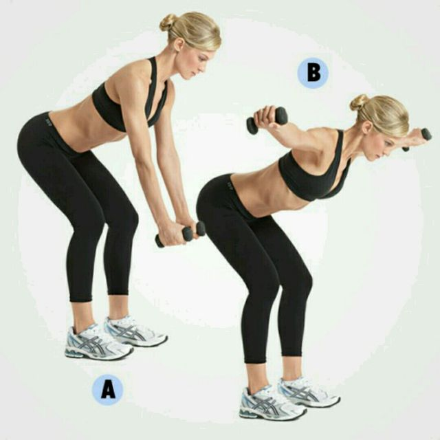 Dumbbell Row To Reverse Fly - Exercise How-to - Workout ...