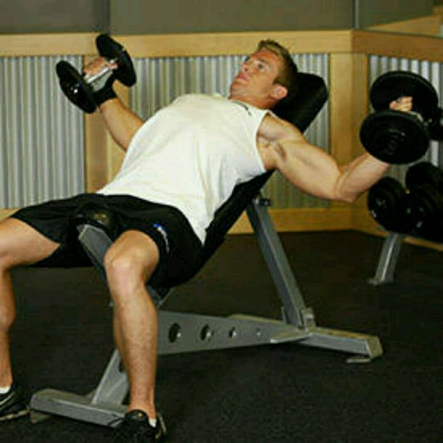 Chest Workout Bench Press Dumbbell Flyes And Presses: Incline Dumbell Fly