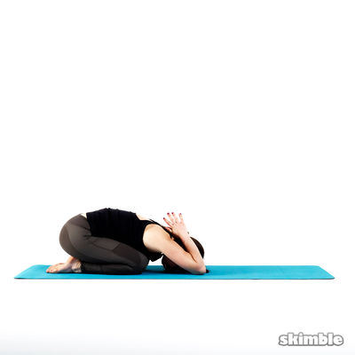 Child's Pose with Reverse Prayer
