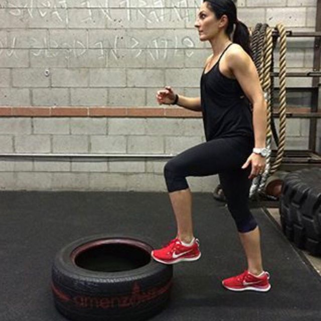Step Ups On Tractor Tire - Exercise How-to - Workout ...