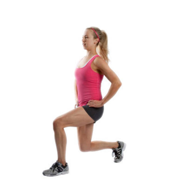 Left Assisted Lunges -...